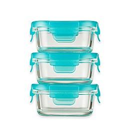 Innobaby Preppin' SMART™ 5 oz. 2-Pack Locking Glass Container in Aqua