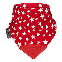 Cheeky Chompers® Neckerchew® 2-in-1 Teething Bandana Bib in Red Star Pattern