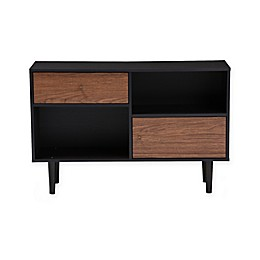 Baxton Studio Auburn Sideboard Storage Cabinet in Dark Brown