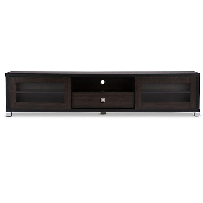 Alternate image 1 for Baxton Studio Beasley 70-Inch Wooden TV Cabinet in Dark Brown