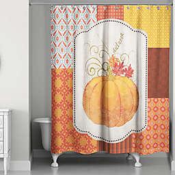 Autumn Pumpkin Shower Curtain