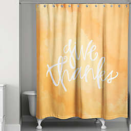 Give Thanks Shower Curtain