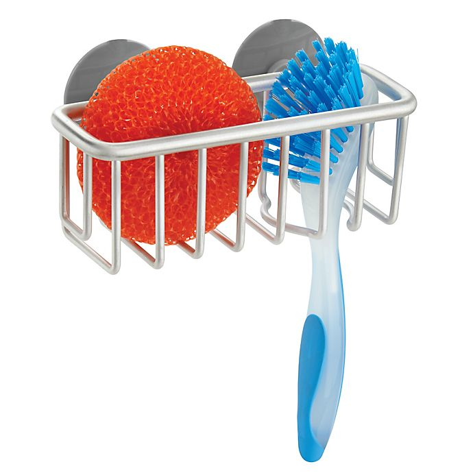 Alternate image 1 for InterDesign® Rust Proof Aluminum Suction Sink Caddy