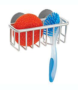Organizador para fregadero de aluminio InterDesign® con ventosas de succión