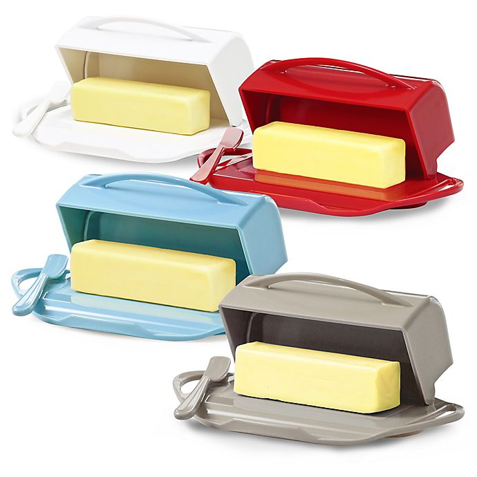 Alternate image 1 for Butterie™ Flip-Top Butter Dish with Spreader
