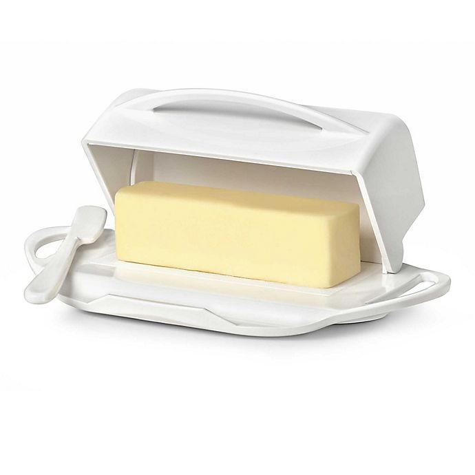 Alternate image 1 for Butterie® Flip-Top Butter Dish with Spreader