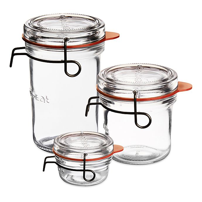 Alternate image 1 for Luigi Bormioli™ Lock-Eat Glass Canning Jar with Removable Lid