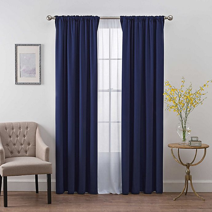 Alternate image 1 for SmartBlock™ Chroma Back Tab 100% Blackout Window Curtain Panel