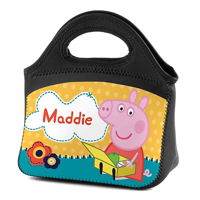 Alternate image 1 for Peppa Pig™ Lunch Tote in Black