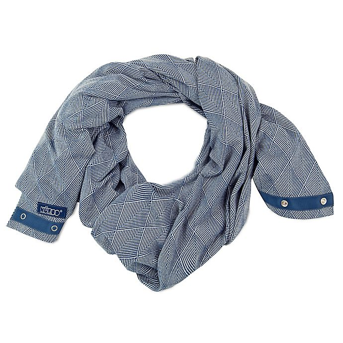Alternate image 1 for NüRoo® Nursing Scarf in Blue Diamond