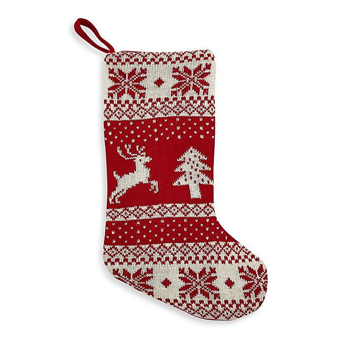 21 knitted fair isle christmas stocking
