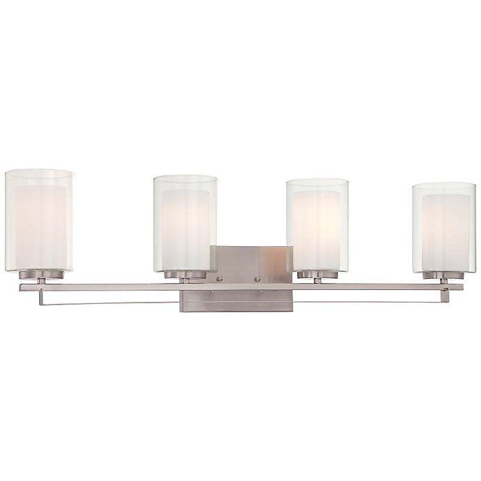 Alternate image 1 for Minka-Lavery® Parsons Studio 4-Light Bath with Brushed Nickel Finish