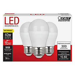Feit Electric 3-Pack 5-Watt A-Shape Performance LED Light Bulbs
