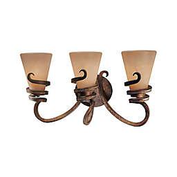 Minka Lavery® Tofino 3-Light Semi-Flush Mount Vanity Light in Bronze