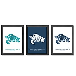 Americanflat© Sea Turtle Collection Wood-Framed Prints in Multicolor