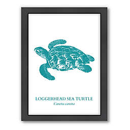Americanflat© Sea Turtle Collection Wood-Framed Sea Turtle Print in Multicolor