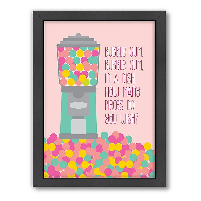 Alternate image 1 for Americanflat Jilly Jack Designs Sweets Gumball Machine 1 Matte Print with Frame
