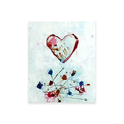 Intelligent Design Impenetrable Heart Wall Art in Red