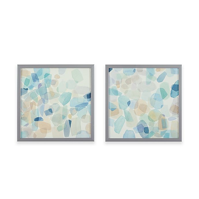 Intelligent Designs Gemstone Tiles Decorative Box Wall Art