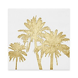 Intelligent Design Gold Palms Foil Embellished Canvas Wall Art