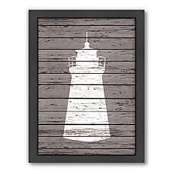 Americanflat Wood Quad Lighthouse Framed Wall Art