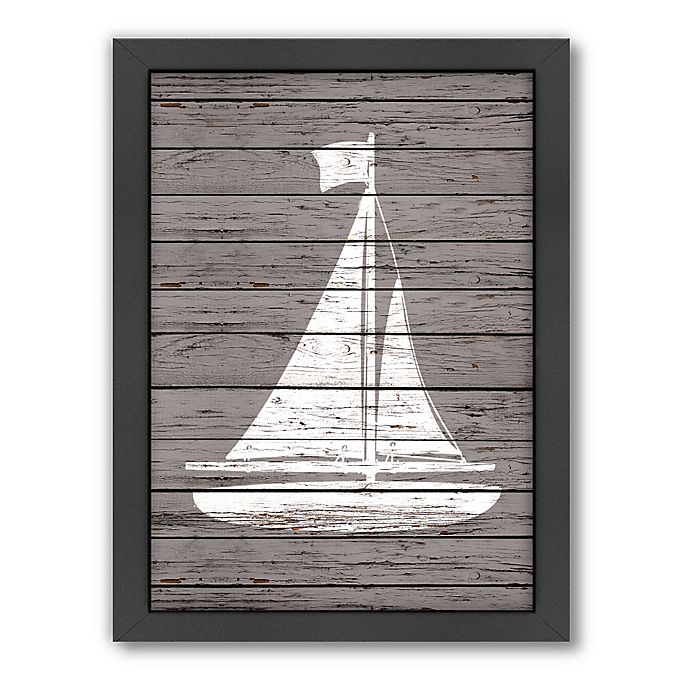 Alternate image 1 for Americanflat Wood Quad Sailboat Wall Art