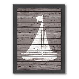 Americanflat Wood Quad Sailboat Wall Art