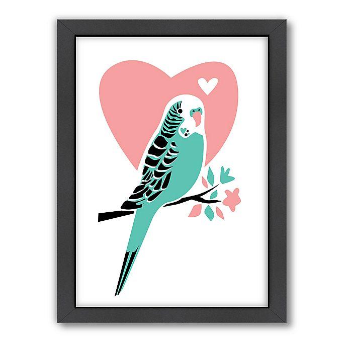 Alternate image 1 for Americanflat Jilly Jack Designs Parakeet 3 Matte Print with Frame
