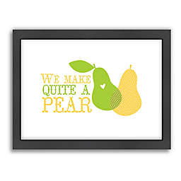 Americanflat Jilly Jack Designs Fruit Pear Matte Print with Frame