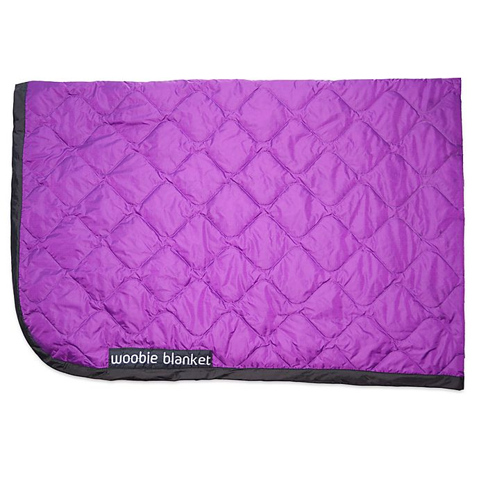 Alternate image 1 for Woobie Blanket in Purple with Black Edge