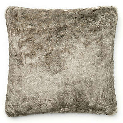 Loloi Solid Faux Fur 22-Inch Square Throw Pillow