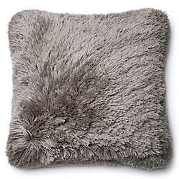 Loloi Long Hair Shag 22-Inch Square Throw Pillow