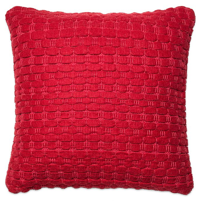 Loloi Ribbon Weave 22 Inch Square Throw Pillow Bed Bath