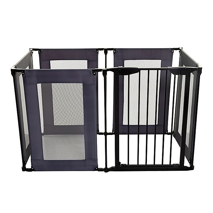 Alternate image 1 for Dreambaby® Brooklyn Converta Play Pen Gate in Black/Grey