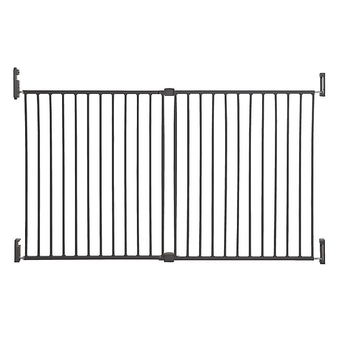 Alternate image 1 for Dreambaby® Broadway Extra Wide Gro-Gate® in Charcoal