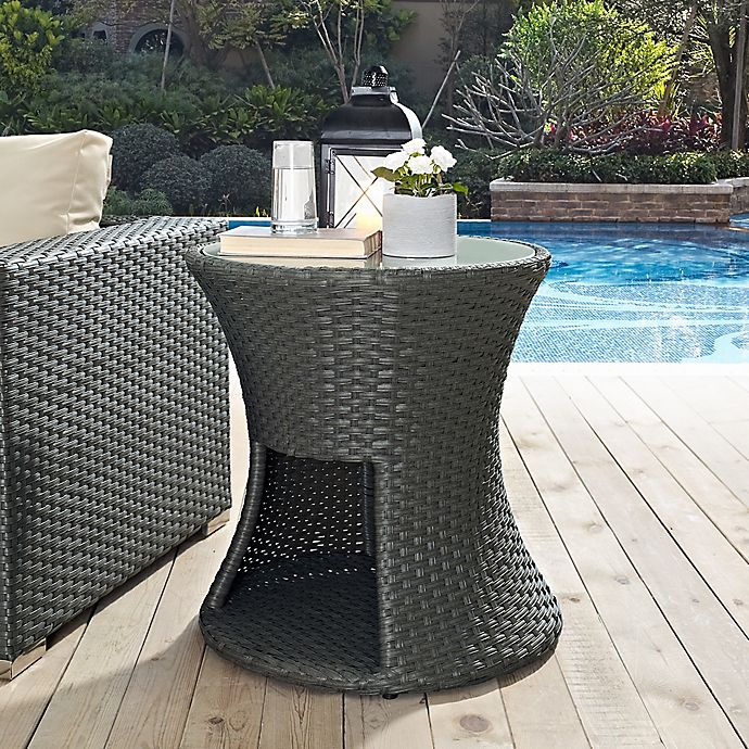 Alternate image 1 for Modway Sojourn Outdoor Side Table in Chocolate