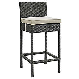 Modway Sojourn Outdoor Wicker Bar Stool with Sunbrella® Cushion
