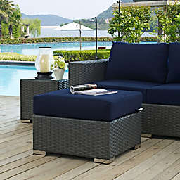 Modway Sojourn Outdoor Ottoman in Tuscan Sunbrella® Canvas