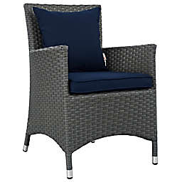 Modway Sojourn Outdoor Dining Armchair in Navy Sunbrella® Canvas