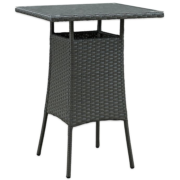 Alternate image 1 for Modway Sojourn Small Outdoor Bar Table in Chocolate