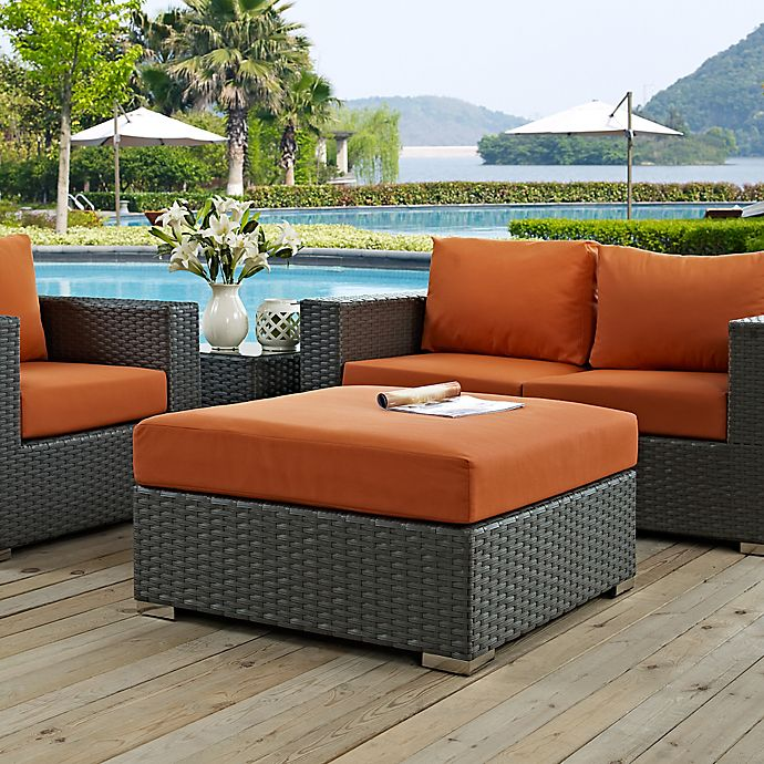 Alternate image 1 for Modway Sojourn Outdoor Square Ottoman in Sunbrella® Canvas
