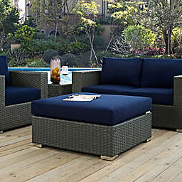 Modway Sojourn Outdoor Square Ottoman in Sunbrella® Canvas
