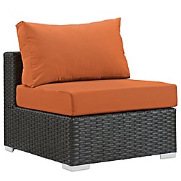 Modway Sojourn Outdoor Armless Chair in Sunbrella® Canvas