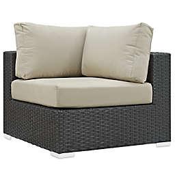 Modway Sojourn Outdoor Corner Chair in Sunbrella® Canvas