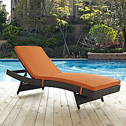 Modwy Sojourn Outdoor Chaise In Sunbrella Canvas