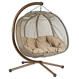 Loveseat Hanging Chair with Stand
