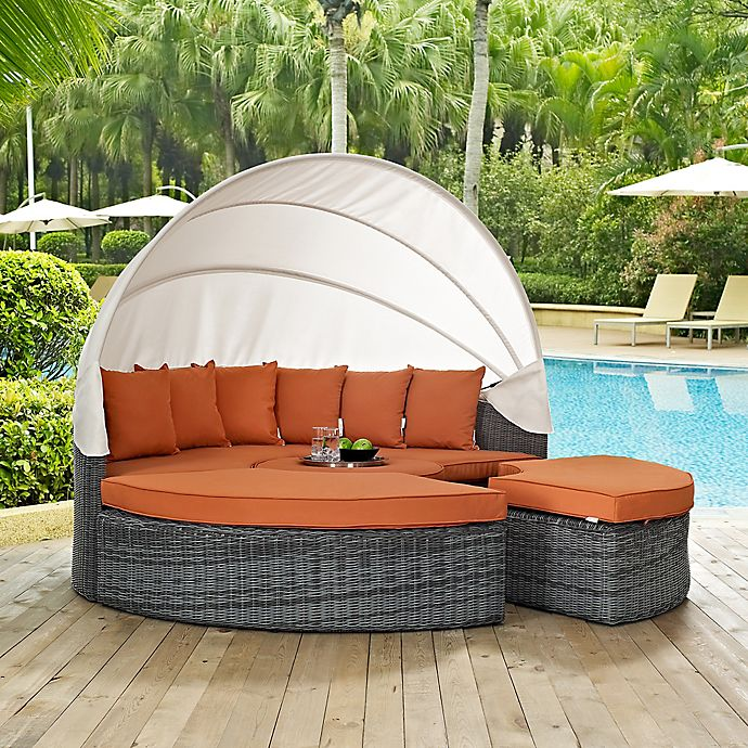 Alternate image 1 for Modway Summon Outdoor Canopy Daybed in Tuscan Sunbrella® Canvas