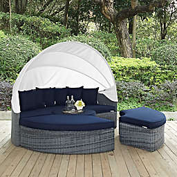 Modway Summon Outdoor Canopy Daybed in Sunbrella® Canvas