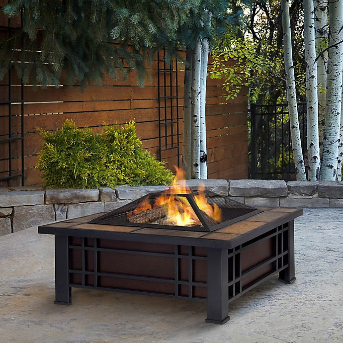 Alternate image 1 for Real Flame® Morrison Fire Pit in Black