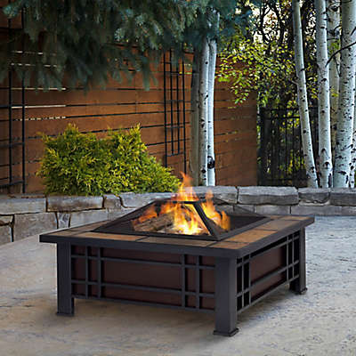 Real Flame® Morrison Fire Pit in Black